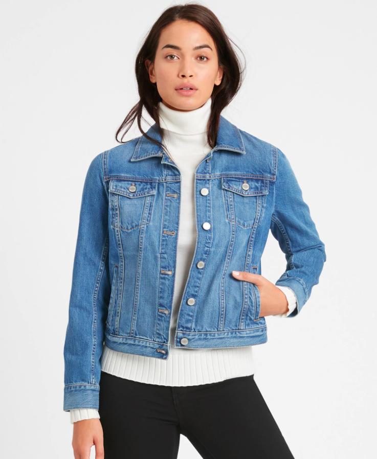 the jean jacket in a true blue wash