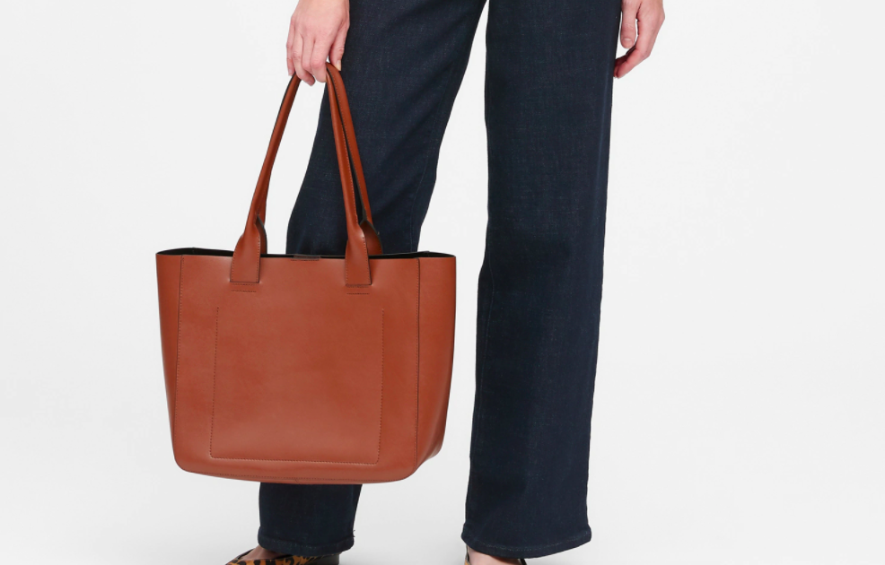 the totebag in brown leather