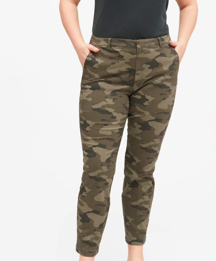 the pant in army pattern