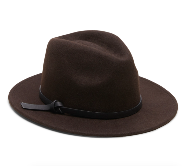 the hat in brown