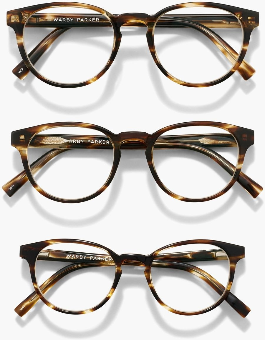 the brown and black glasses in three different sizes