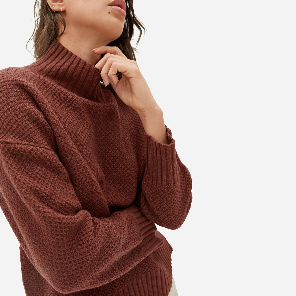 Ferbia Women Turtleneck Sweater Oversized Slouchy Batwing Knit Pullover Chunky Ribbed Baggy Loose Long Sleeve Cute Top
