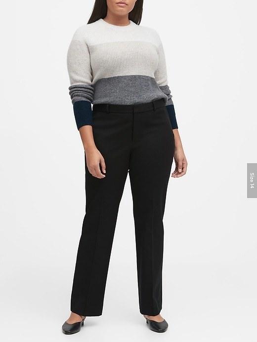 Plus-size model wearing the pants