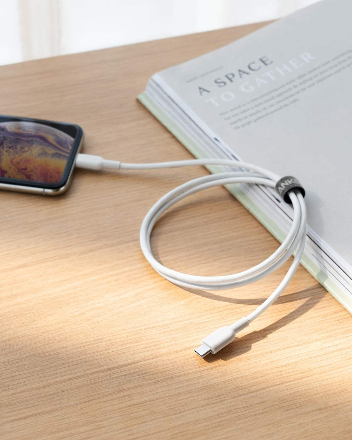 A charger plugged into a smart phone