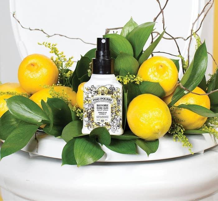 Bottle of Poo-Pouri in original citrus scent