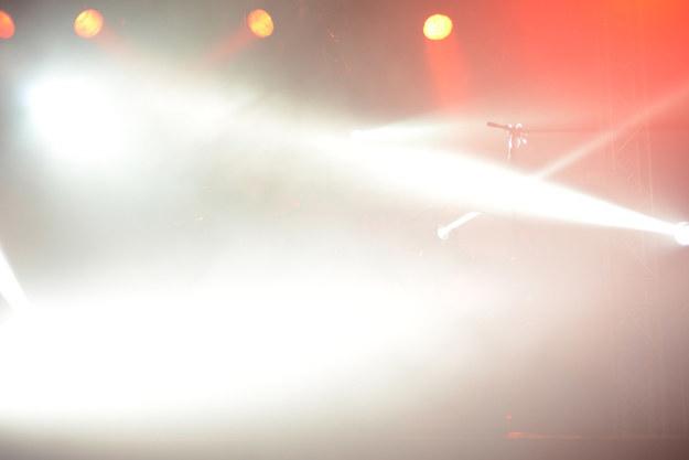 Bright stage lights