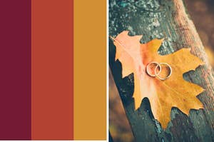 Fall colors and fall wedding rings.