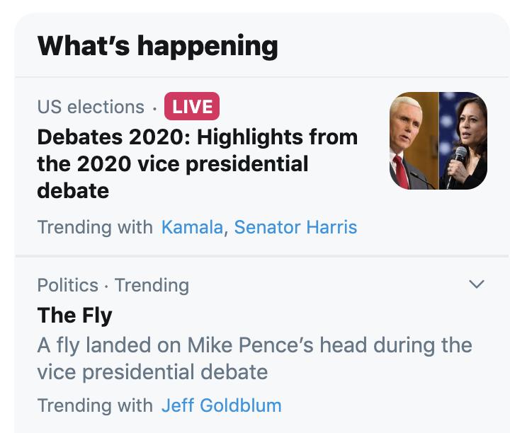 The fly trending on Twitter
