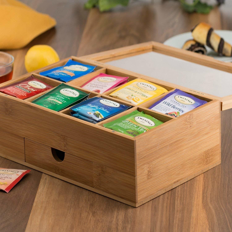 A tea wooden box