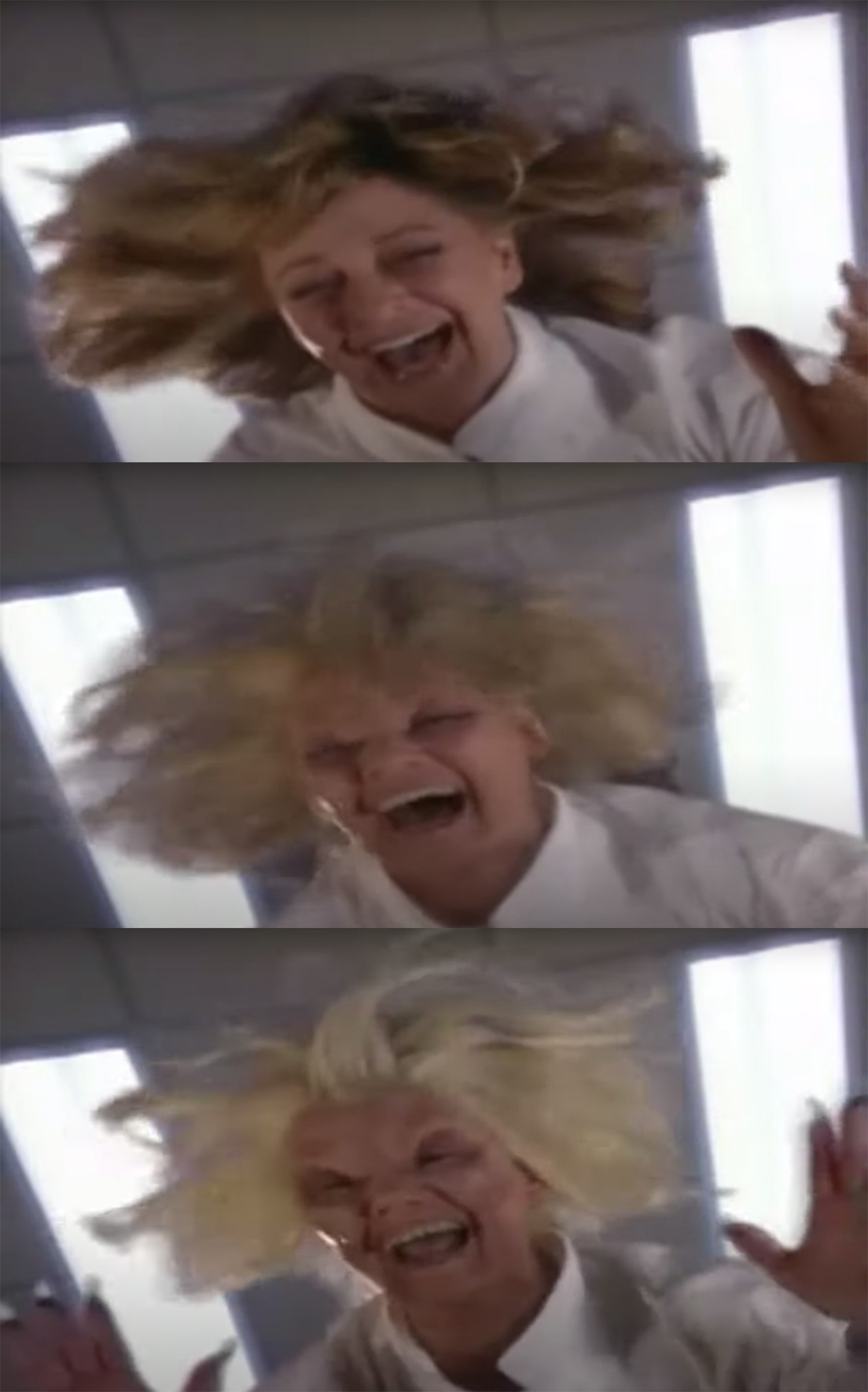 Marlena's face morphs into the devil