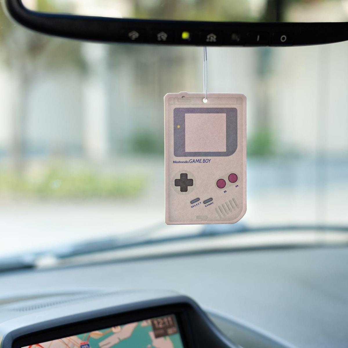 The white freshener shaped like an original Game Boy