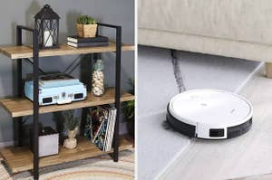 shelf and vacuum