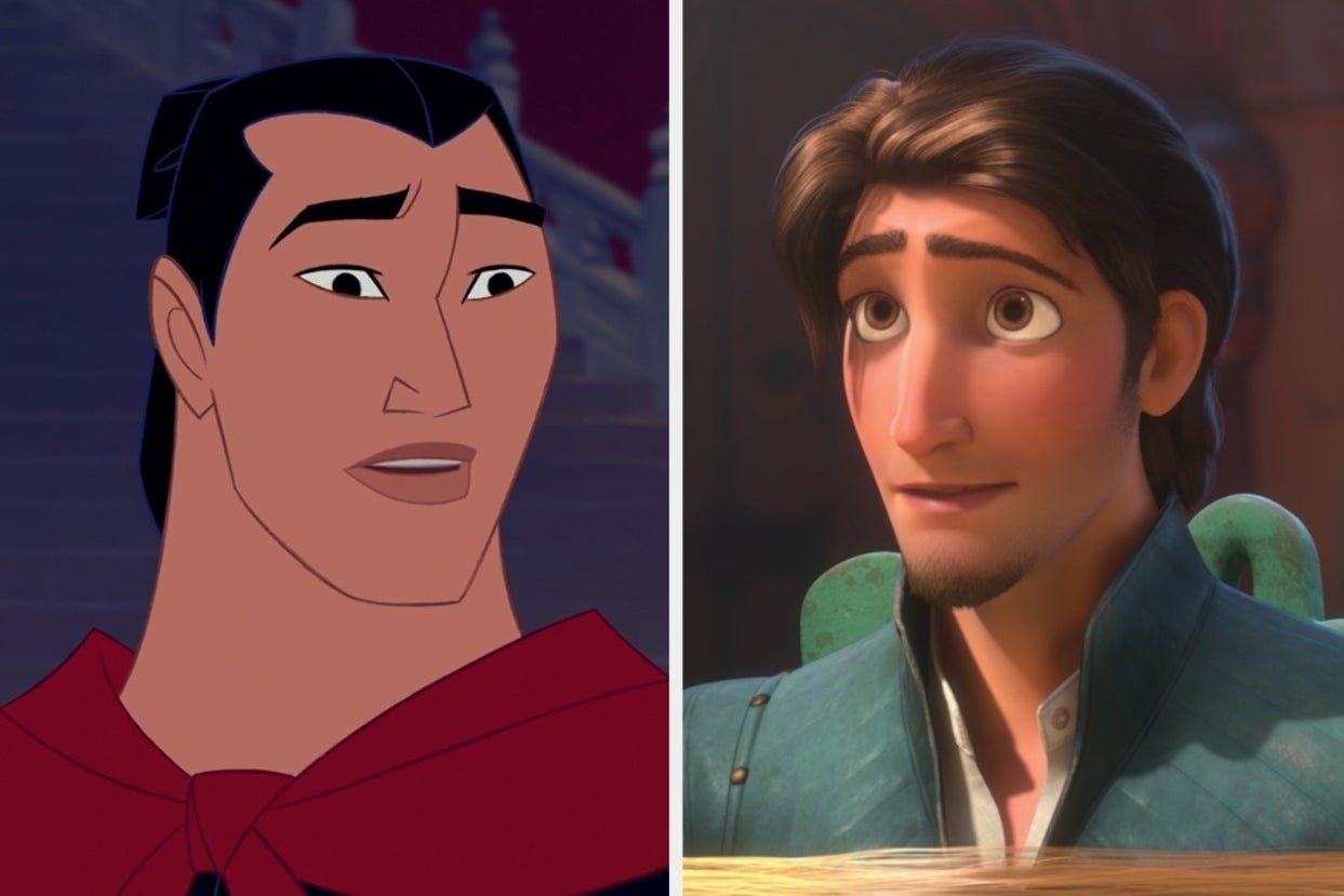 "Li Shang from ""Mulan"" and Flynn Rider from ""Rapunzel"""