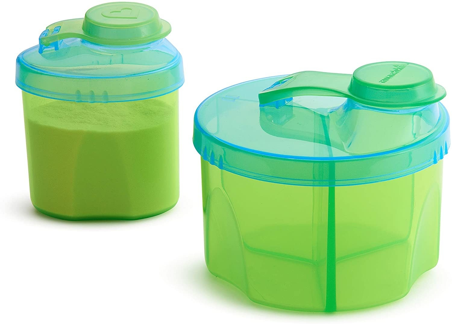 A small baby formula container with three compartments