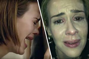 Sarah Paulson crying in various roles