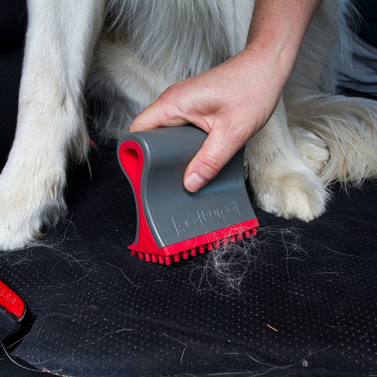 The red and gray pet hair remover
