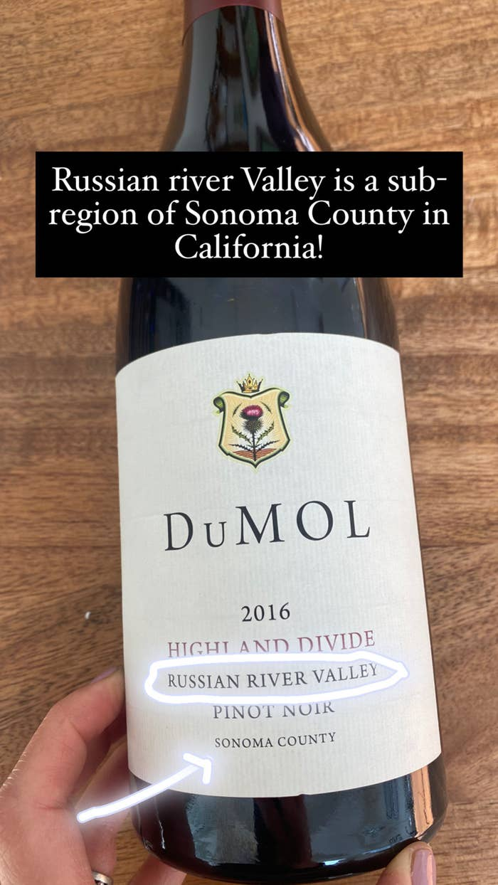 A bottle of Dumol Pinot Noir from Russian River Valley in Sonoma County.