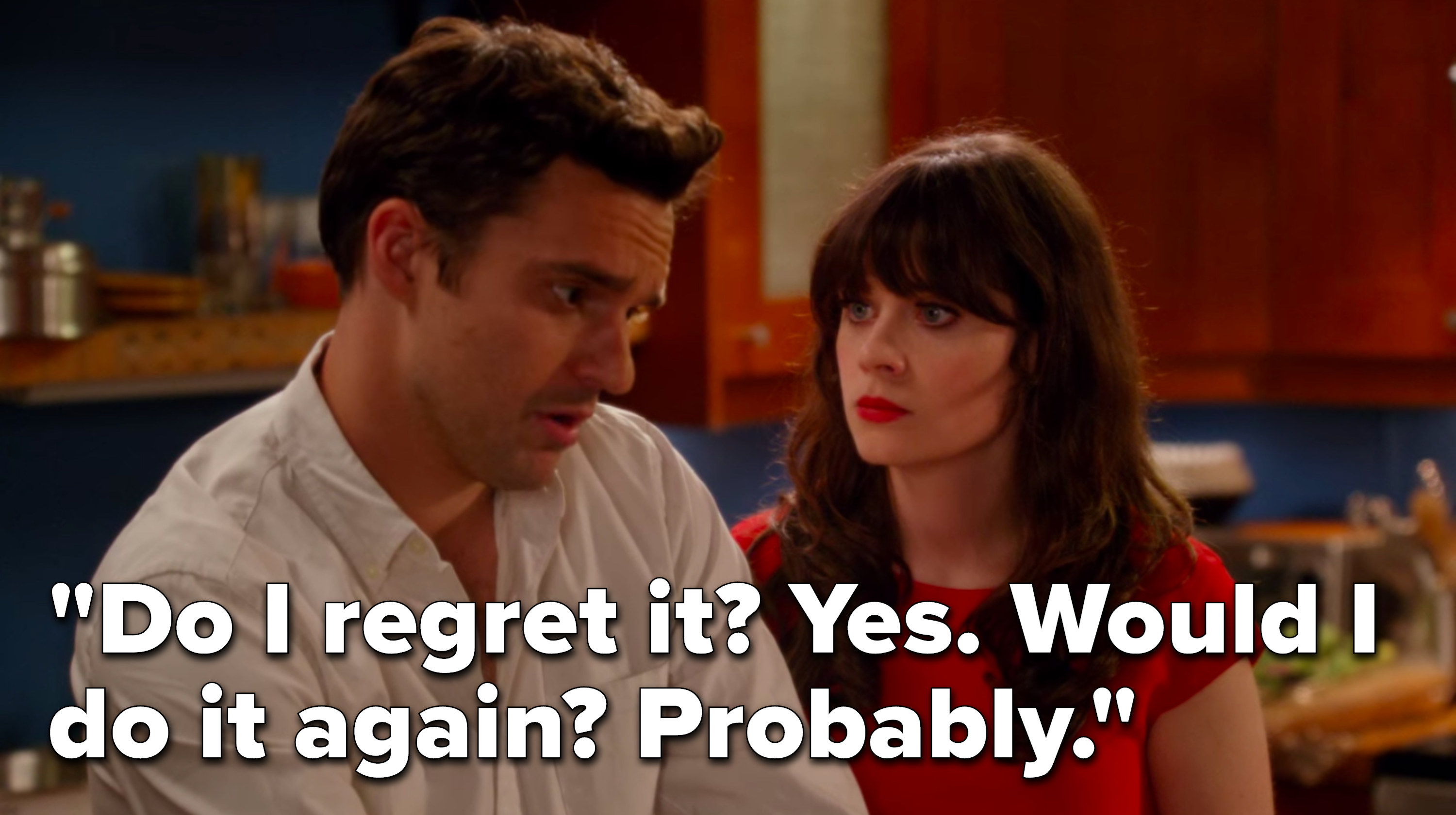 """Nick says, """"Do I regret it, yes, would I do it again, probably"""""""