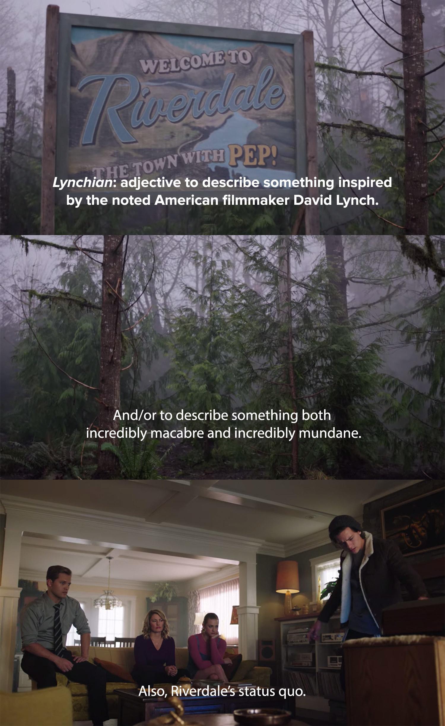 Jughead describes Riverdale as both incredibly macabre and incredibly mundane
