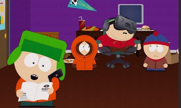 Cartman uses Oculus Rift