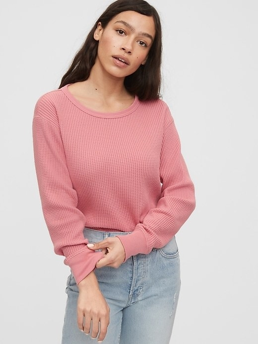 The long-sleeve shirt in pink
