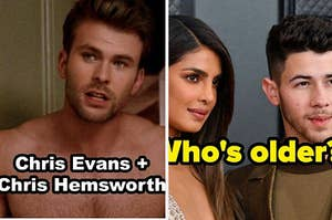 克里斯·埃文斯(Chris Evans)和克里斯·海姆斯沃斯(Chris Hemsworth)融为一体,还有普里扬卡·乔普拉(Priyanka Chopra)和尼克·乔纳斯(Nick Jonas)