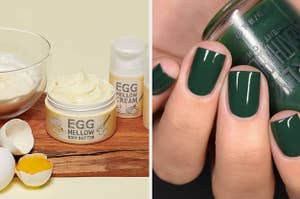 left, body butter, right, nail polish