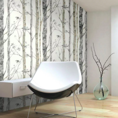 A wall adhesive that looks like trees