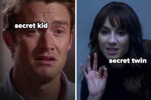 Clay has a secret kid, and Alex has a secret twin