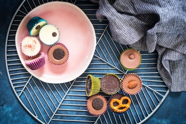 various flavored nut butter cups