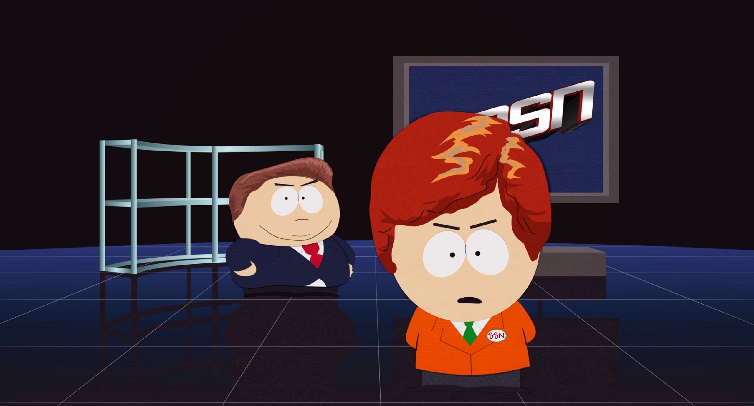 Cartman and Kyle present special report
