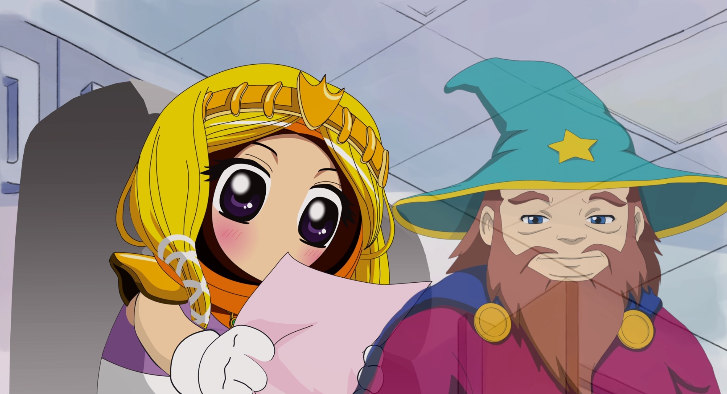 Princess Kenny receives letter from Wizard Cartman