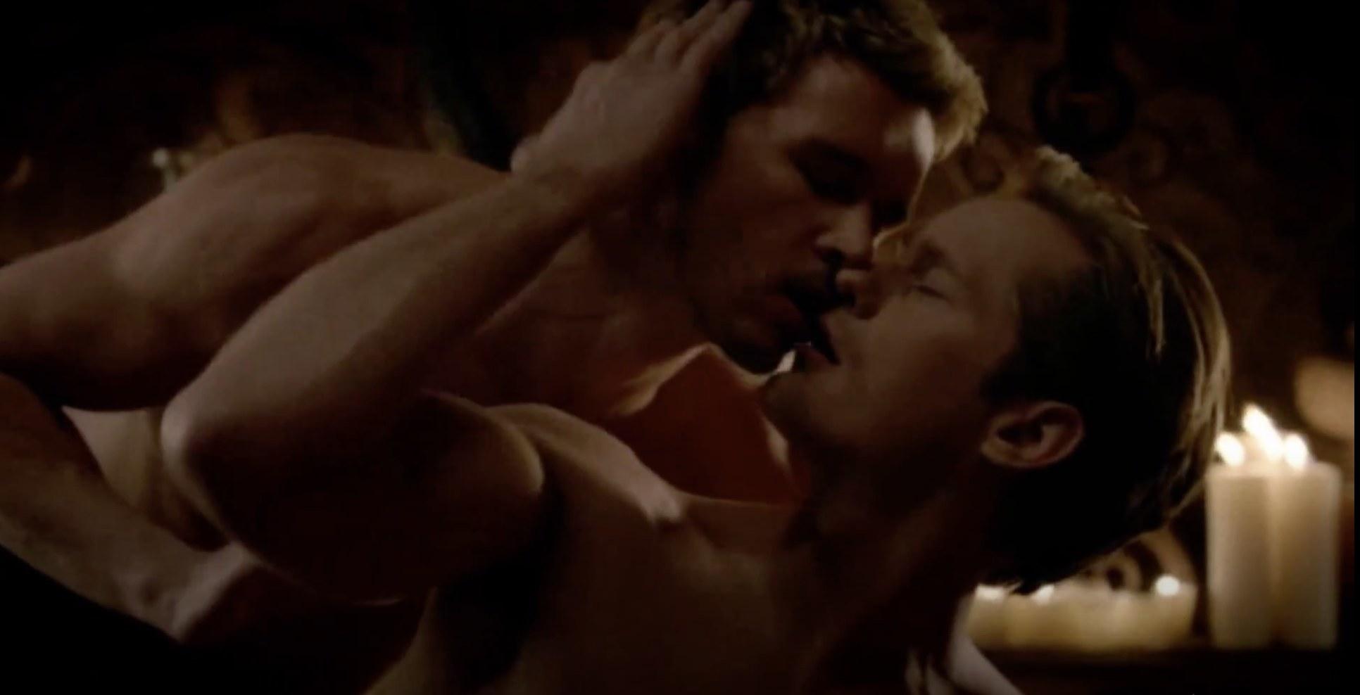 Jason and Eric kissing passionately