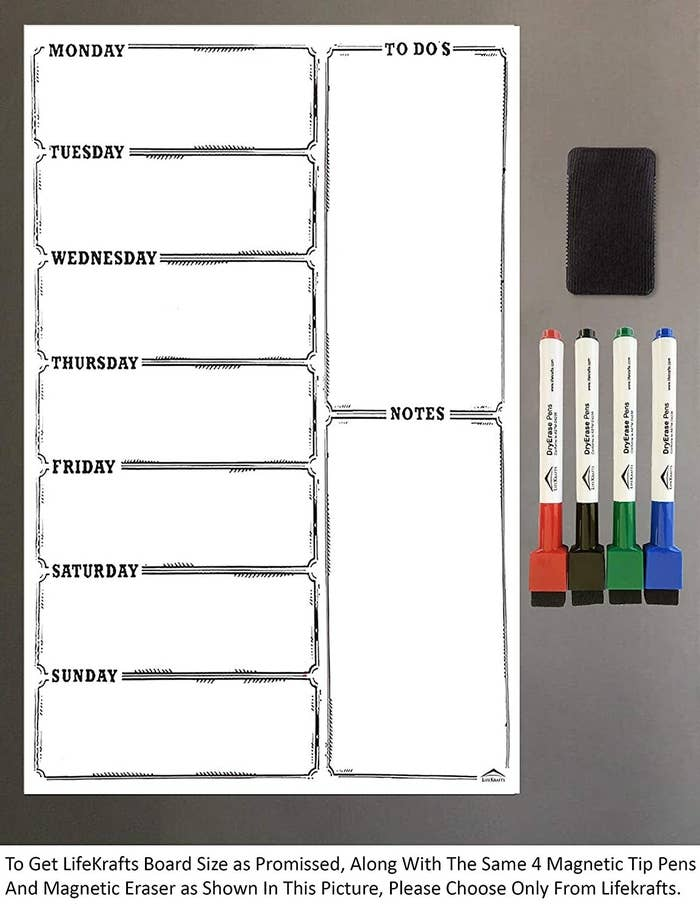 A magnetic dry erase board