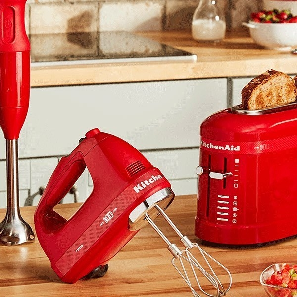 Red hand mixer