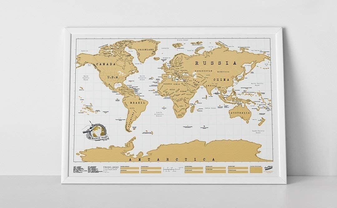 The white and gold map