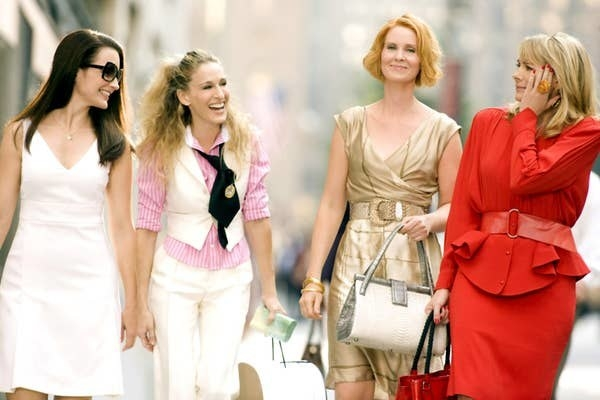 A still of Charlotte York, Carrie Bradshaw, Miranda Hobbes, and Samantha Jones in Sex and the City