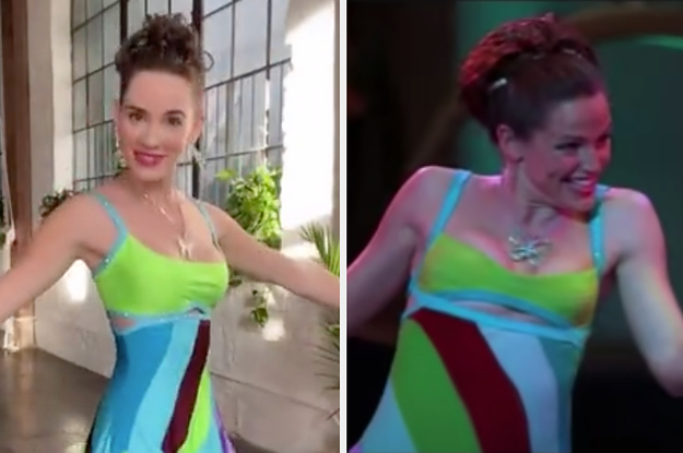"Young Jenna From ""13 Going On 30"" Dressed Up As Adult Jenna For Halloween"