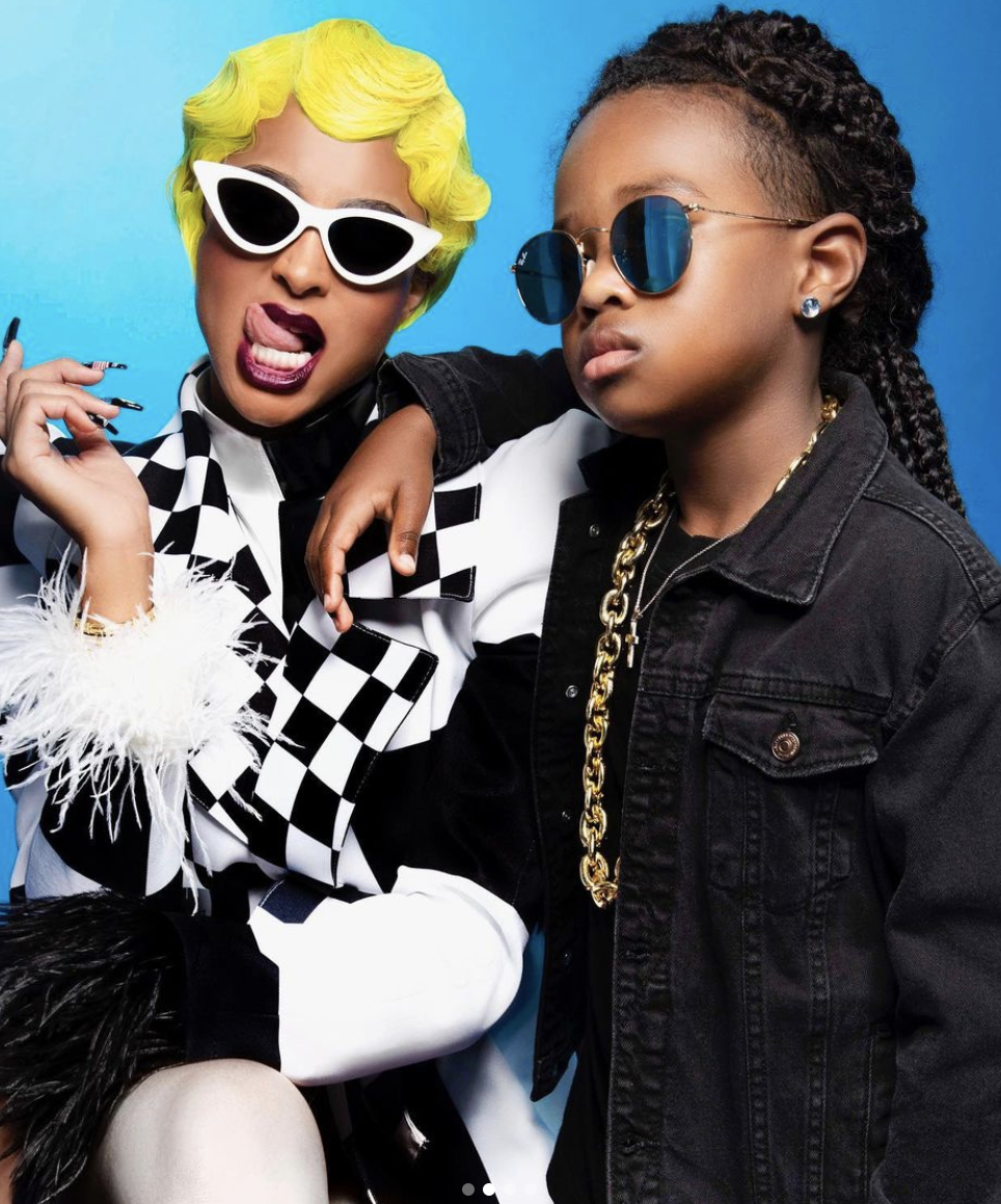 Ciara as Cardi B and her son Future as Offset