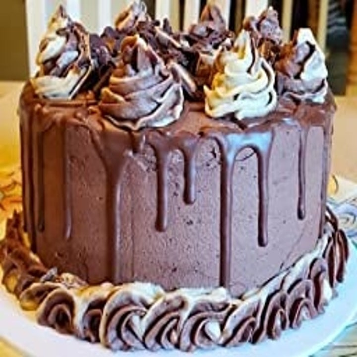 a beautifully decorated chocolate cake