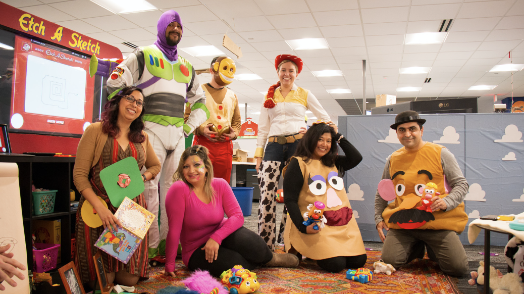 """""""Toy Story"""" universe at the firm for Halloween"""