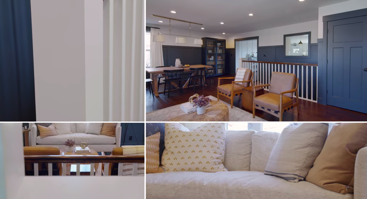 Various images of a house that got a makeover