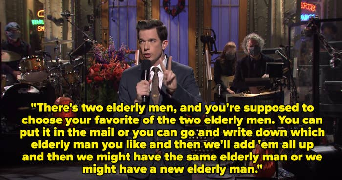 There's two elderly men, and you're supposed to choose your favorite of the two elderly men. You can put it in the mail or you can go and write down which elderly man you like""
