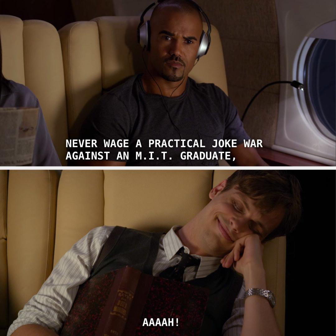 Spencer pranking Morgan.