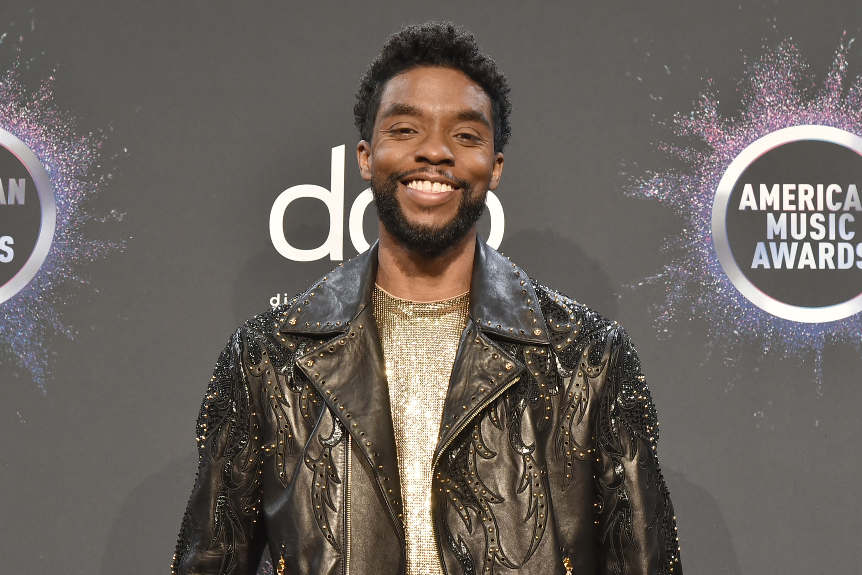 Chadwick Boseman attends the 47th Annual American Music Awards