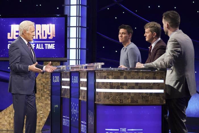 Alex hosting the Jeopardy! Goat! tournament