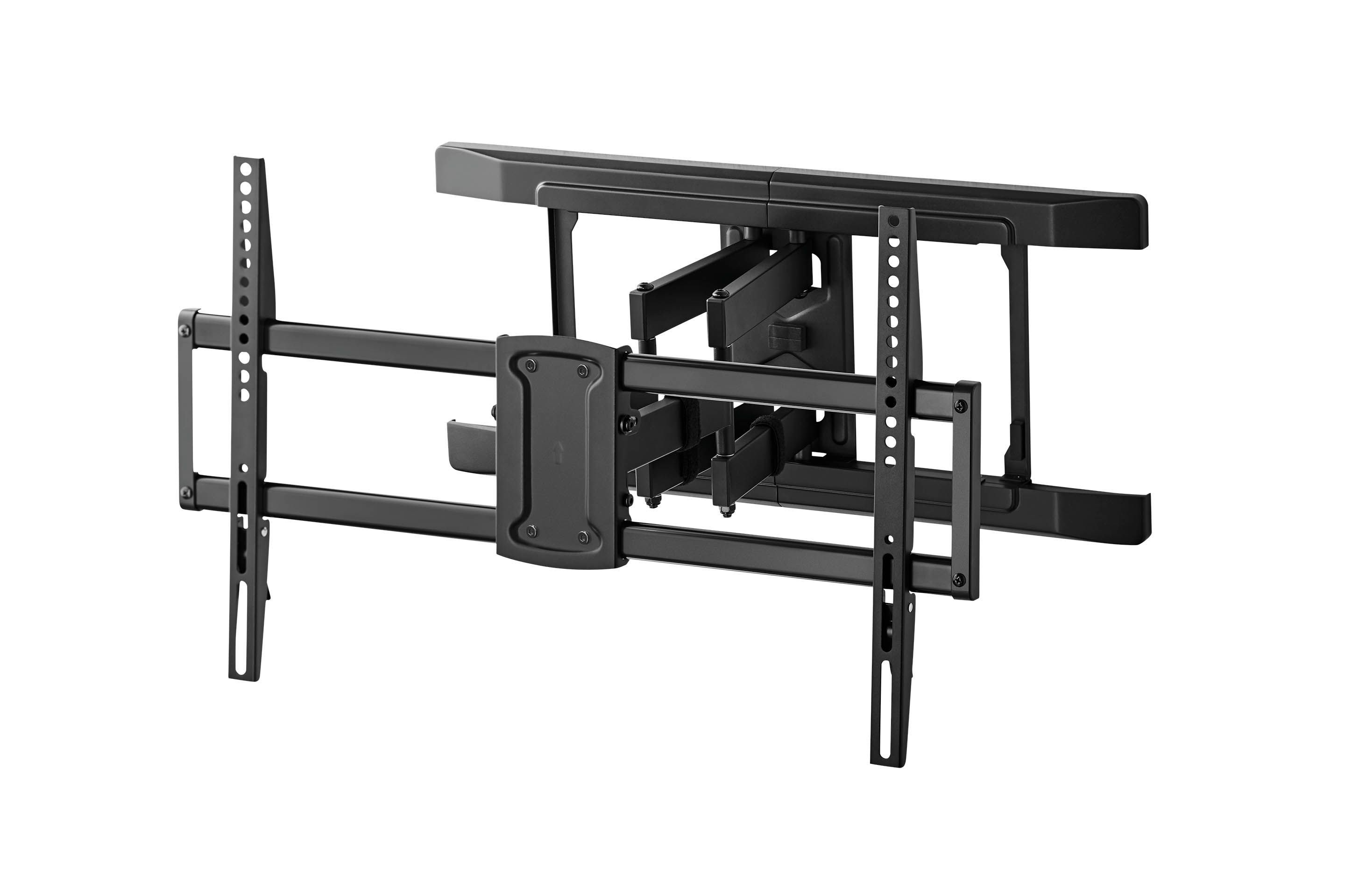 black wall mount for a television