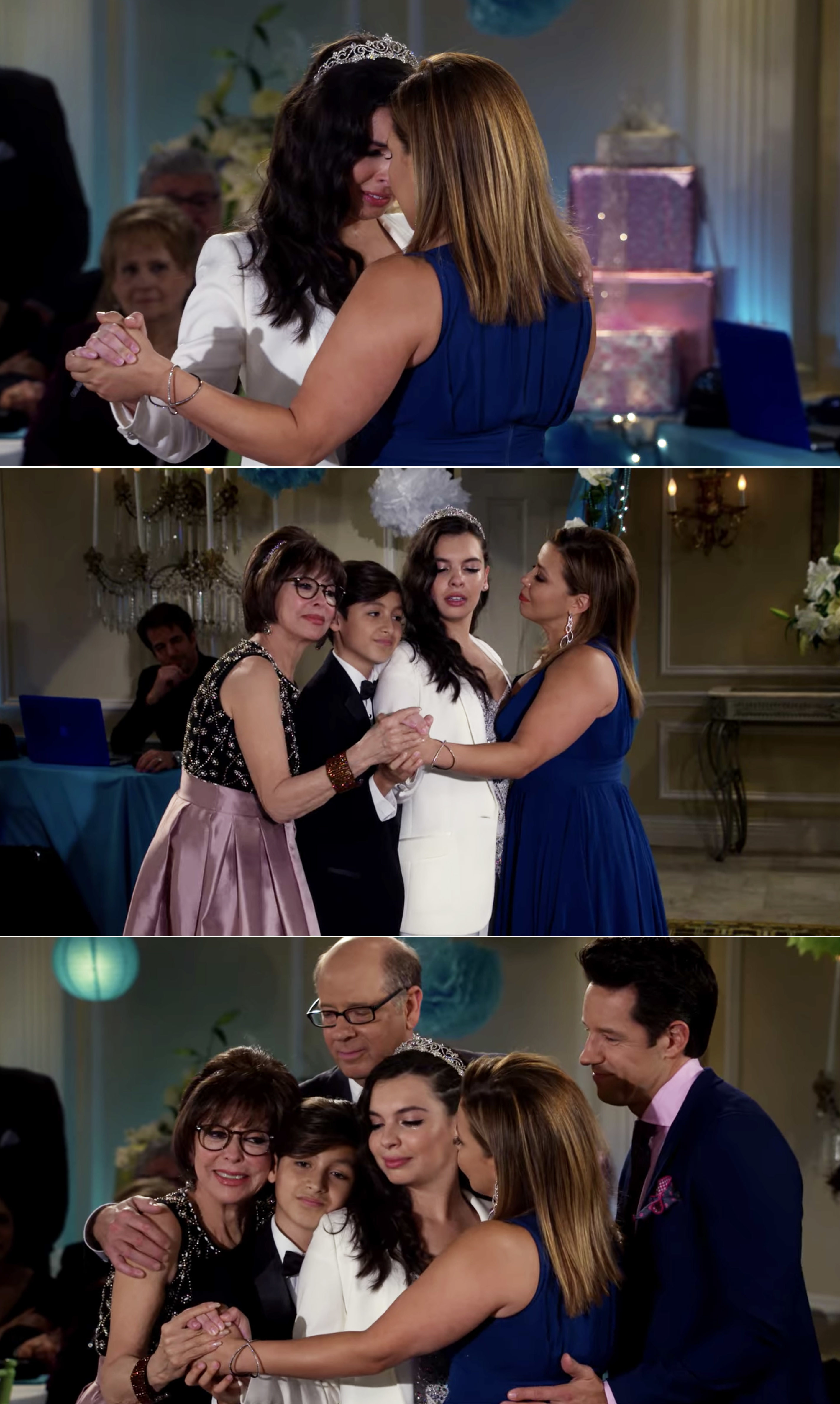 Elena crying and everyone getting up to slow dance with her