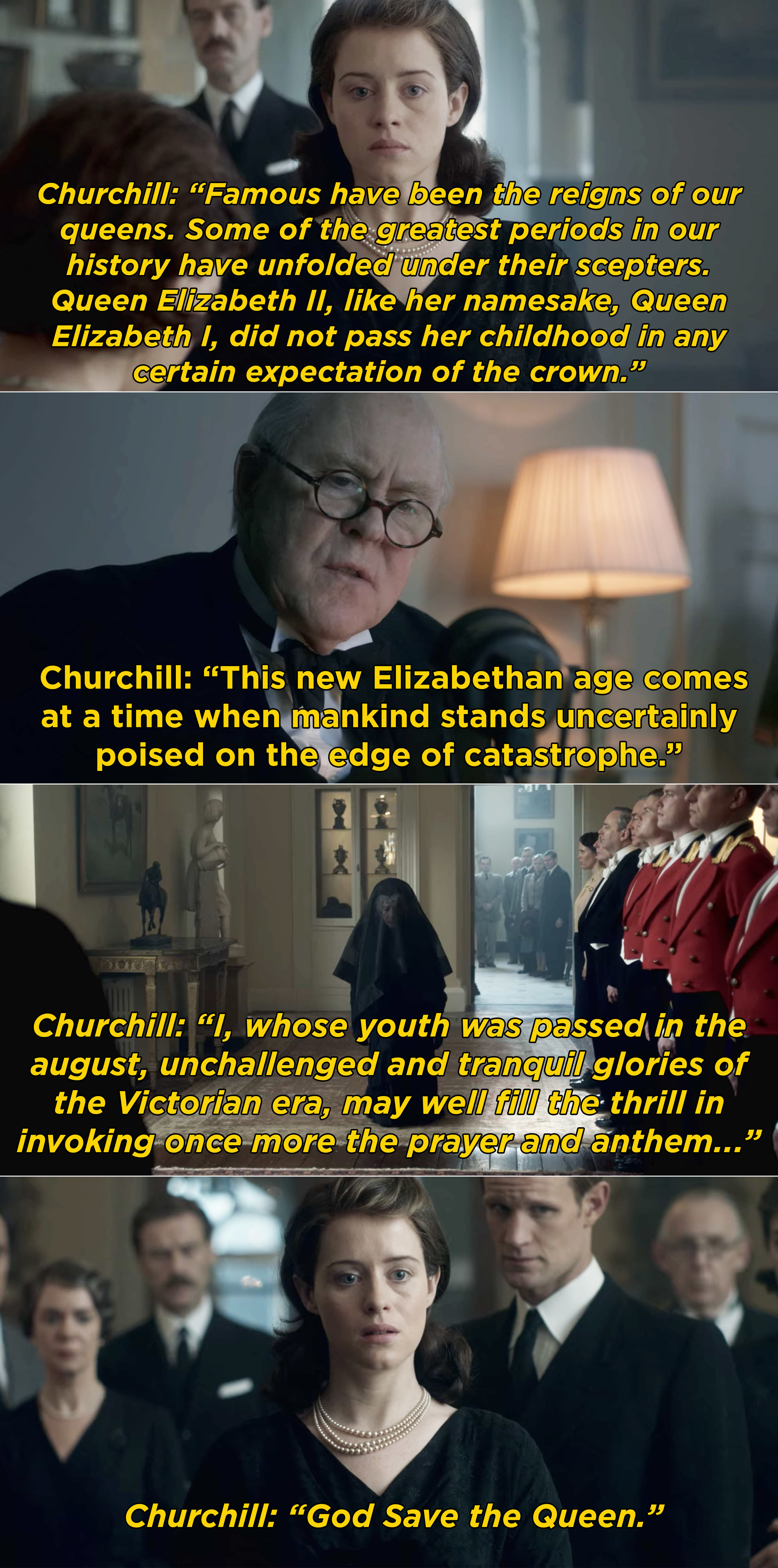 """Churchill invoking """"God Save the Queen"""""""