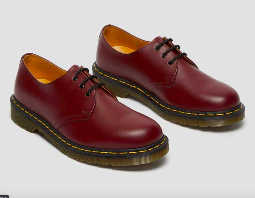 photo of Dr. Martens 1461 smooth leather shoes in cherry red